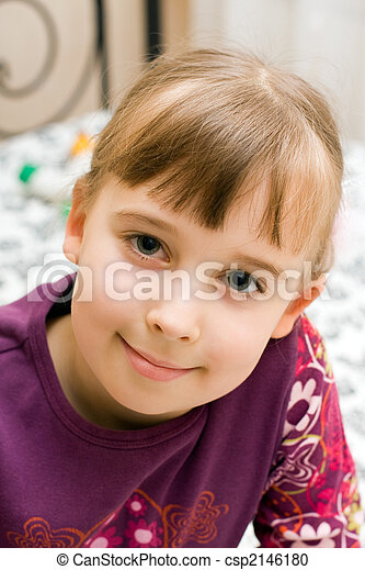 Portrait of the little girl - csp2146180