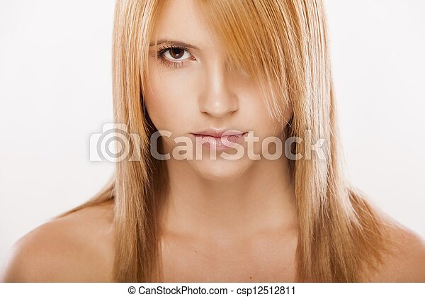 Portrait of the young woman - csp12512811