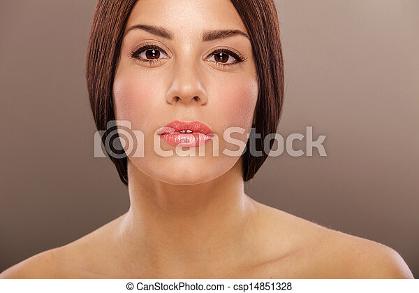 Portrait of the young woman - csp14851328