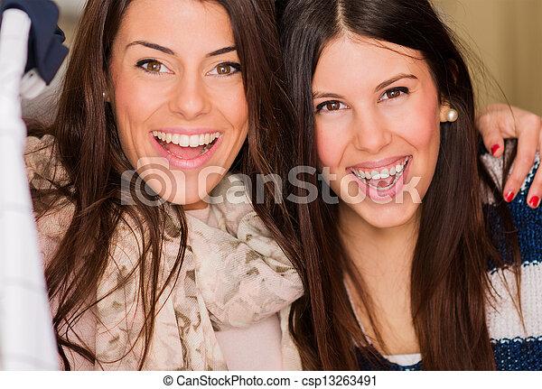 Portrait Of Two Happy Friends - csp13263491