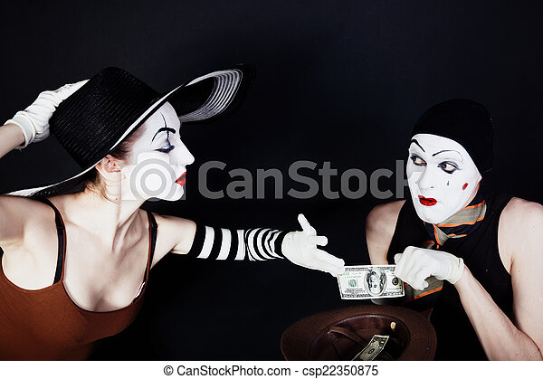 Portrait of two mimes - csp22350875