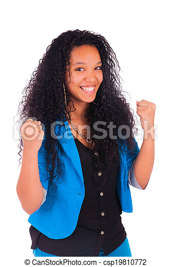 Portrait of Woman african black - csp19810772
