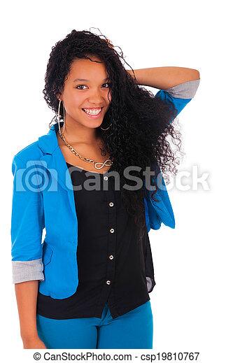 Portrait of Woman african black - csp19810767