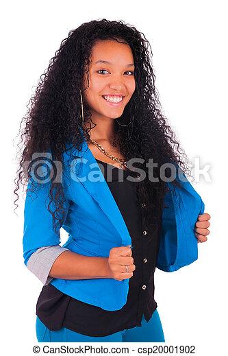 Portrait of Woman african black - csp20001902