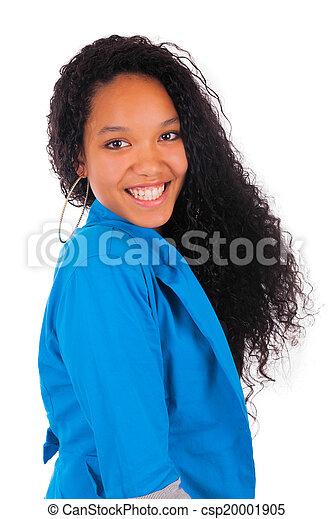 Portrait of Woman african black - csp20001905