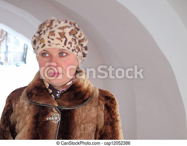 portrait of woman - csp12052386