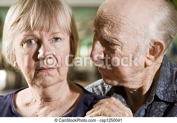 Portrait of Worried Senior Couple - csp1250041