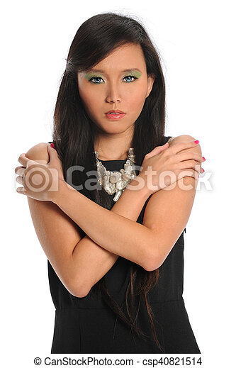 Portrait of Young Asian Woman - csp40821514