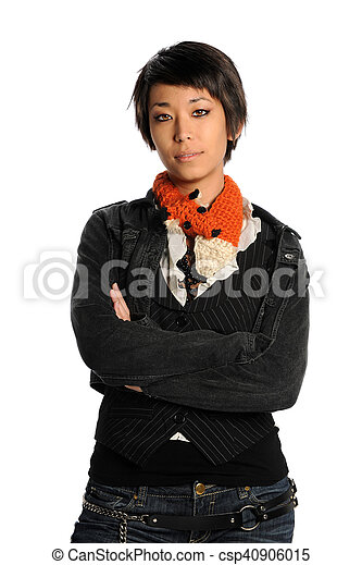 Portrait of Young Asian Woman - csp40906015