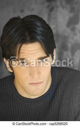 Portrait of young attractive man - csp5268020