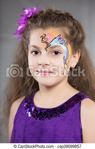 Portrait of young girl - csp39099857