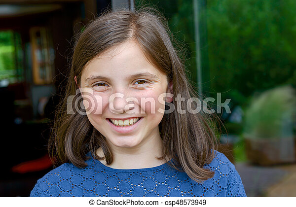portrait of young girl - csp48573949