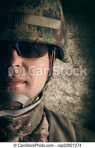 Portrait of young soldier - csp22821274