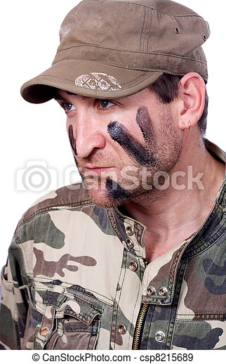 Portrait of young soldier - csp8215689