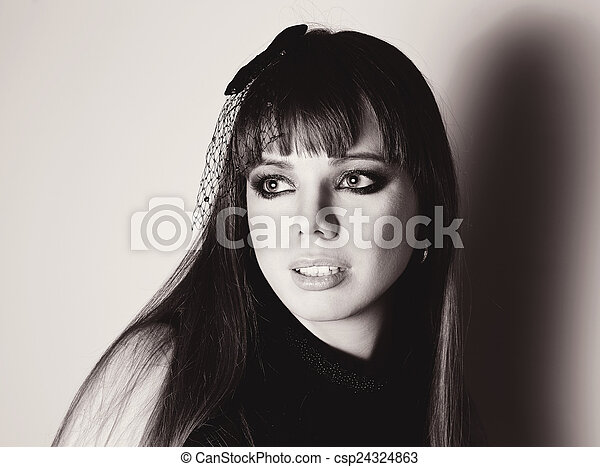 portrait of young woman - csp24324863