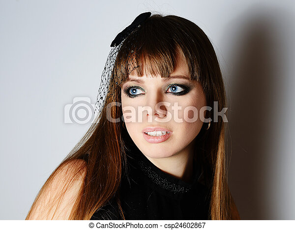 portrait of young woman - csp24602867