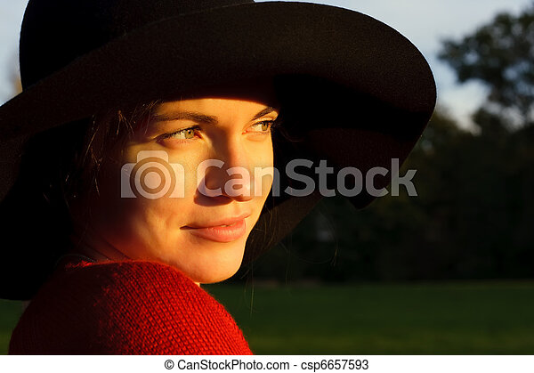 Portrait of young woman - csp6657593