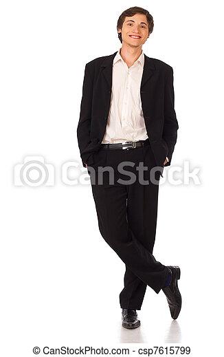 portrait, sourire, jeune, homme affaires - csp7615799