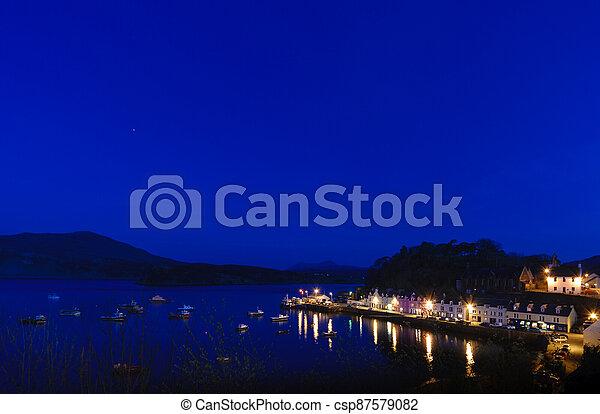 Portree blue hour - csp87579082