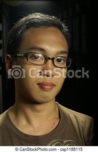 portret, asian, młody mężczyzna - csp1188115
