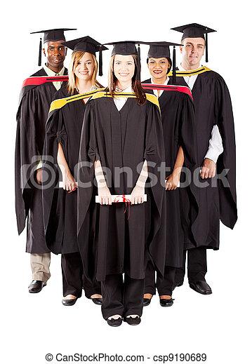 portret, długość, rozmaity, pełny, absolwenci - csp9190689