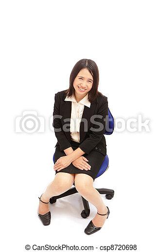 portret, kobieta, asian handlowy - csp8720698