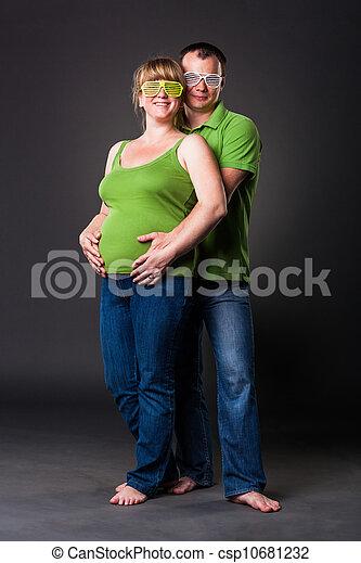 portret, rodzina, młody, szczęśliwy - csp10681232