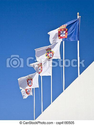 portugais, royal, drapeaux