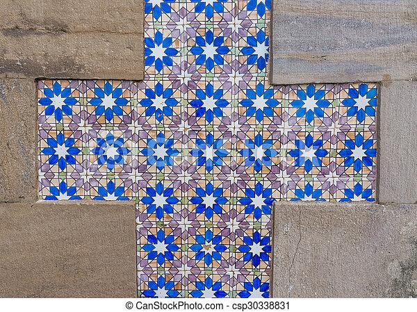 portugais, tuiles, céramique, azulejo, fond - csp30338831