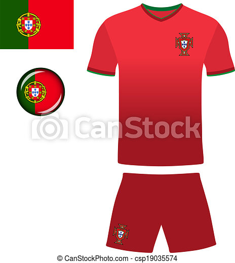 6c7ce35f2 Portugal football jersey. Abstract vector image of the portuguese ...