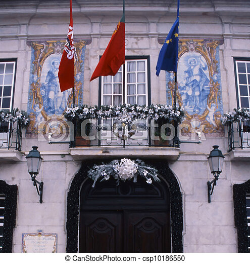 Portugal government building - csp10186550