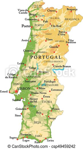 mapa portugal Portugal relief map. Highly detailed physical map of portugal,in  mapa portugal