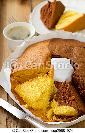 Portugiesisch Brauner Holzern Lo De Papier Hintergrund Kuchen