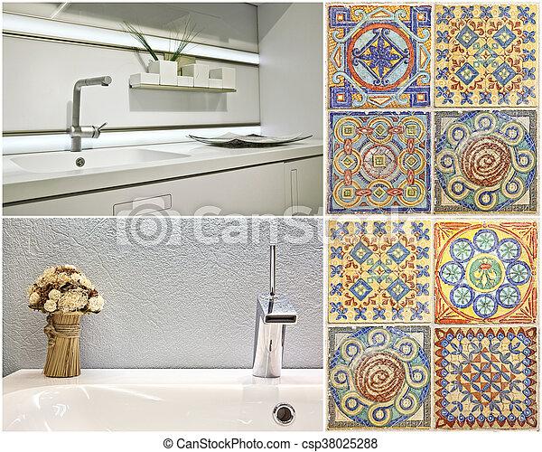Portugiesisch, stil, waschbecken, modern, kueche ,... Bilder ...