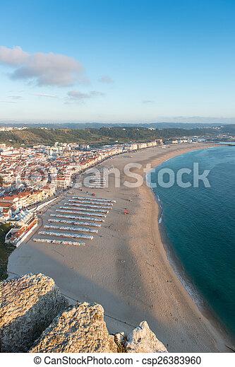 Playa portuguesa desde los acantilados - csp26383960