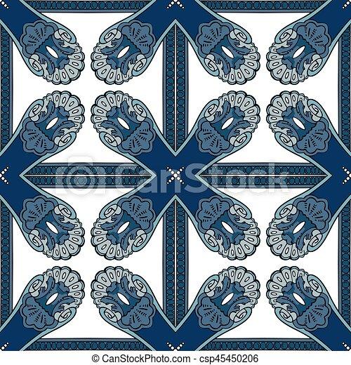 Azulejos portugueses - csp45450206
