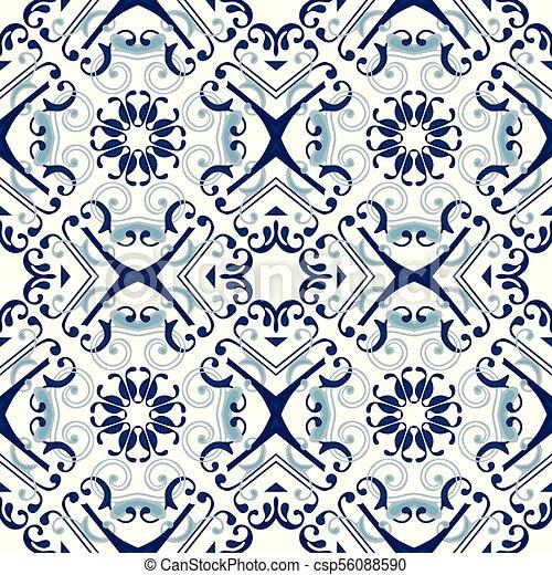 Azulejos portugueses - csp56088590