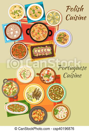 Portuguese and polish cuisine icon for food design polish for Cuisine design portugal