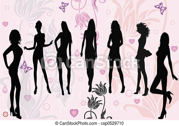 Posing girls - veterinario - csp0529710