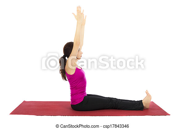 pose yoga personnel series femme pose yoga jeune