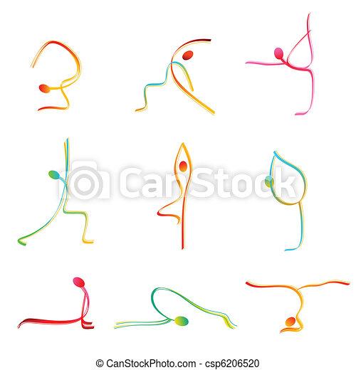 pose, yoga - csp6206520
