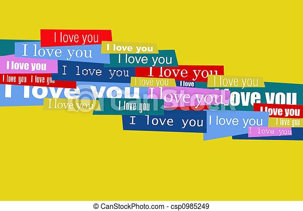 poselství, láska - csp0985249