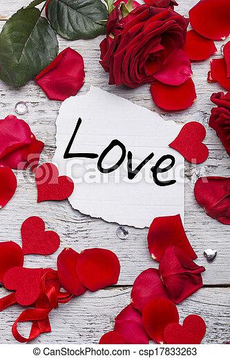 poselství, láska - csp17833263