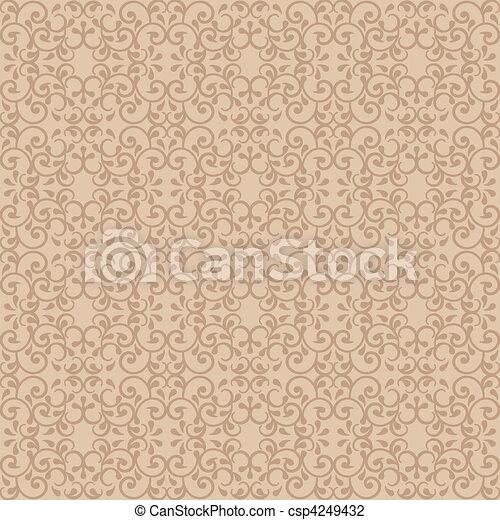 Posh Pattern in Beige - csp4249432