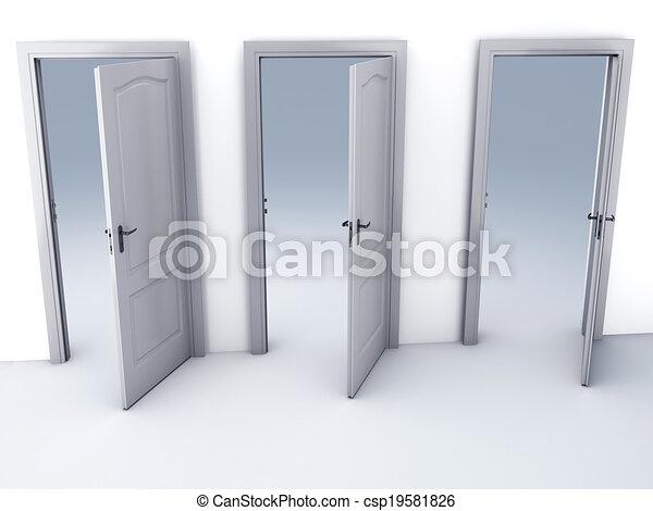 Las opciones de abrir puertas - csp19581826