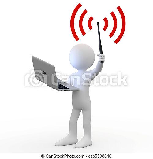 Un hombre con portátil - csp5508640