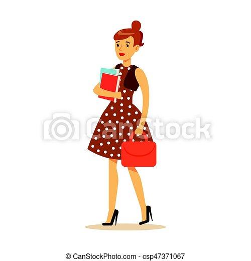 Posición, marrón, mujer, estilo de vida, colorido, ella, carácter ...