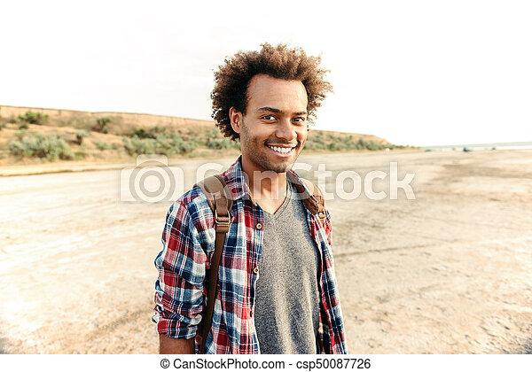 Mochila Sonriente Africano Posición Hombre Posición Playa wq1ccfEdH