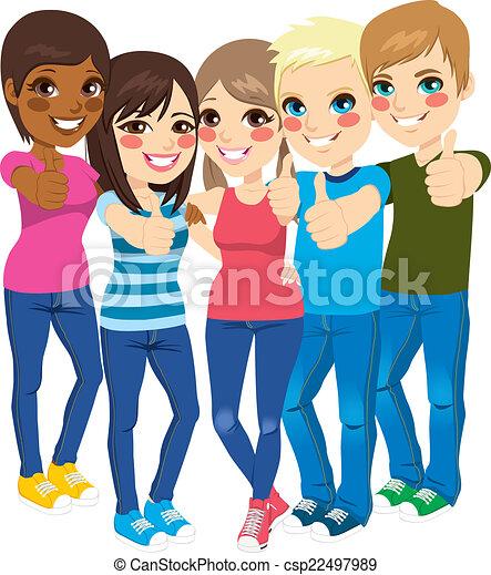 Adolescentes de pie - csp22497989