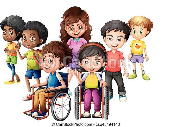 Posici n sillas de ruedas ni os feliz posici n sillas vector eps buscar im genes de - Silla de ruedas ninos ...